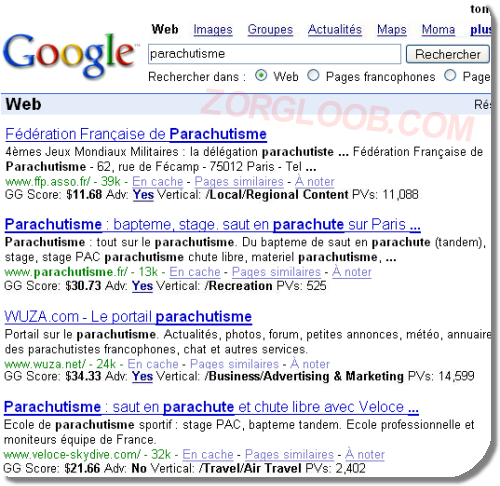 Google's GG Score Shows How Much You're Worth To Them In The SearchRankings